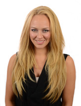Clip in heat style able hair extensions tihaira crimp fawcett blonde pmusecretfo Choice Image