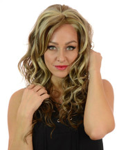 Taylor Silver Blonde Long Curly Lace Front Wig