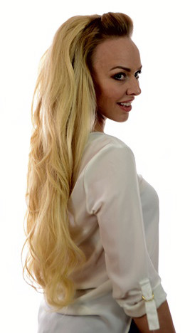 Volume Clip in Hairpiece Hair Crown XL Candy Blonde