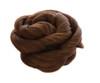 Clip In Rose Braid Hair Bun Caramel Swirl Brown