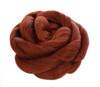 Clip In Rose Braid Hair Bun Henna Red