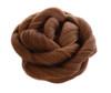 Clip In Rose Braid Hair Bun Light Chocolate Brown