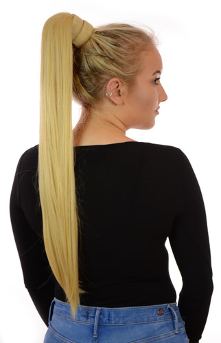 Snap Band Long Ponytail Candy Blonde