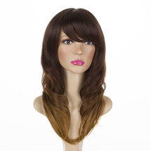 Jess Toffee Chocolate Ombre Brown Long Curly Wig