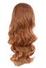 Tihaira Wave Caramel Ombre Long Wavy Half Wig