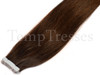Shade 2 Brown 100% Human Hair Tape In Hair Extensions