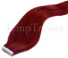 Shade 530 Red 100% Human Hair Tape In Hair Extensions