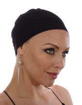 Comfortable & Breathable Black Bamboo Soft Wig Cap