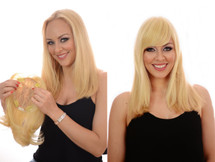 Topper Crown Hairpiece for Hair Loss Before and After