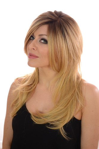 Esther Rooted Blonde Monofilament Wig