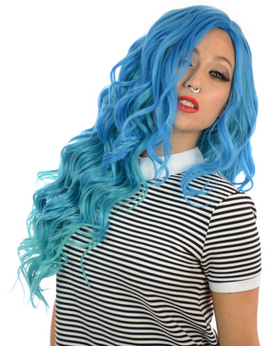 Carnival-Doll Wig Aegean Blue Ombre