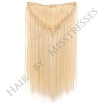 AuLait Blonde Clip in ManeMaker Straight Hair Weft.
