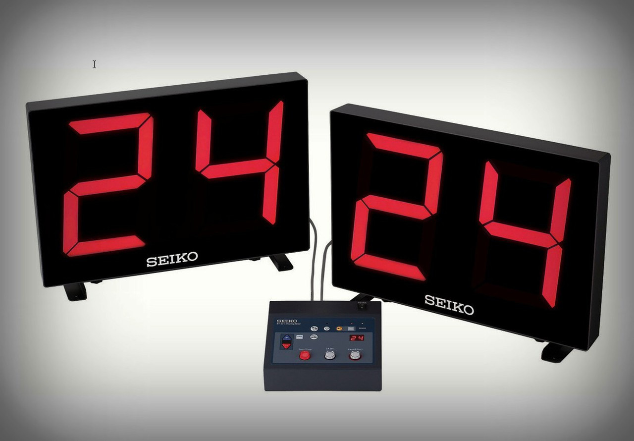 SEIKO KT 401 Remote Controlled Table Top Shot Clock W/ Large 10 Inch LED  Digits