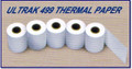 PRINTER PAPER:  One 5-Roll Thermal Paper Pack for Ultrak 498 499-P L10 & Seiko SP11 SP12 S129 S149
