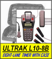 Eight-Lane ULTRAK L10+CASE8B Printing Timer with 8 Lane Buttons and Carrying Case