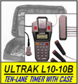Ten-Lane ULTRAK L10+CASE10B Printing Timer with 10 Lane Buttons and Carrying Case