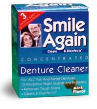 smile again denture cleaning powder
