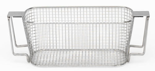 Crest Stainless Steel Mesh Basket - Features exclusive drain positioning handles!