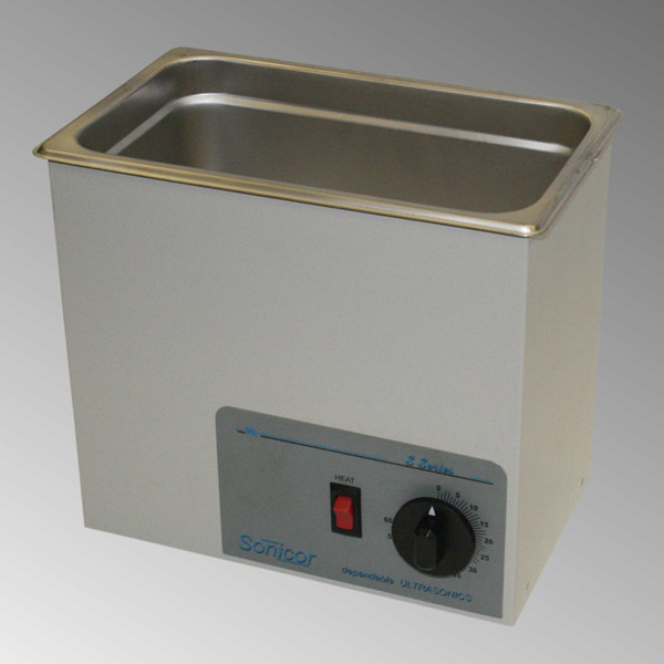 Sonicor S-100 Ultrasonic Cleaner, S-100TH shown.
