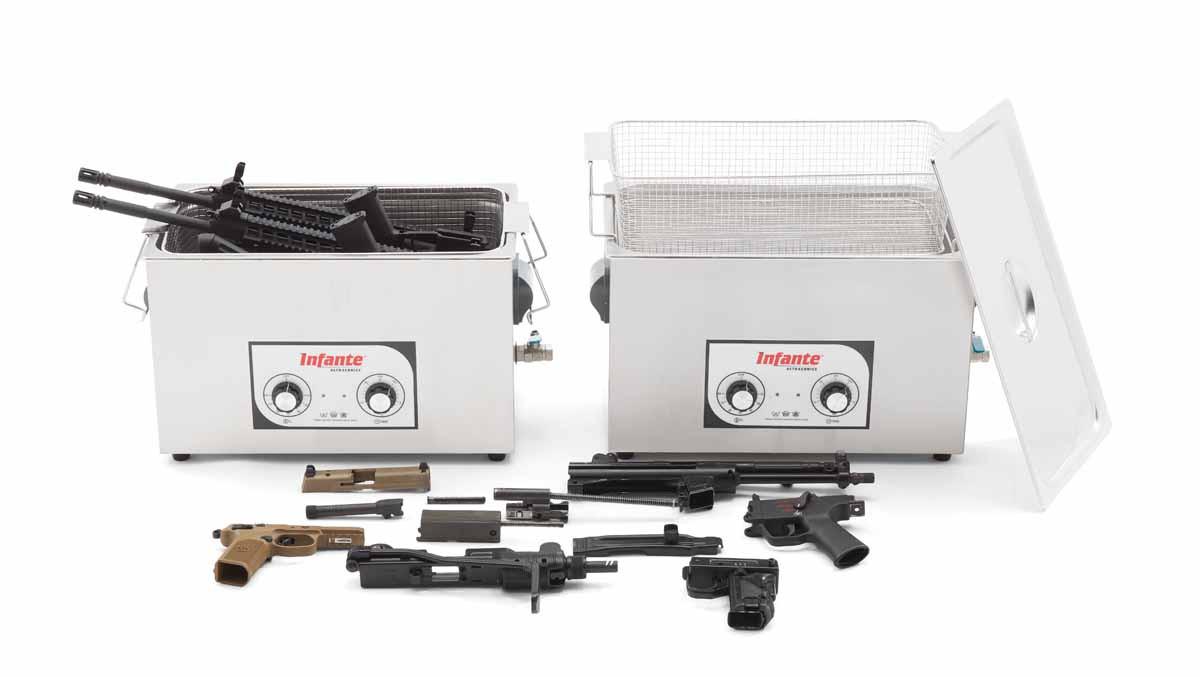 S20 ultrasonic gun cleaner in use