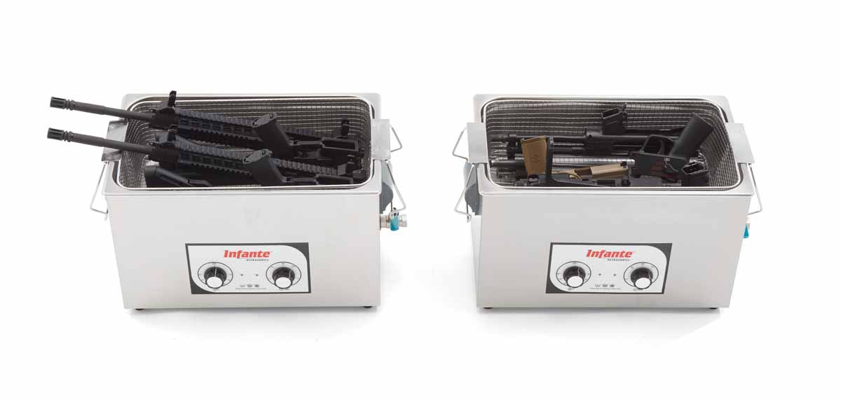 S20 ultrasonic gun cleaner in use top view