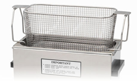 MESH BASKET WITH DROP DOWN HANDLES