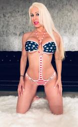 American flag monokini