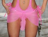 Pink Mesh Wrap