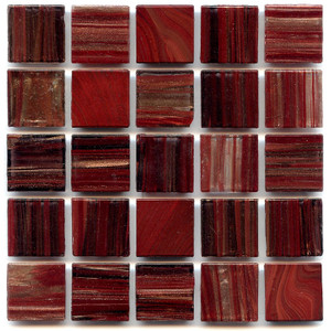 Egyptian Red Blend 0.75 x 0.75 Glass Mosaic Tile