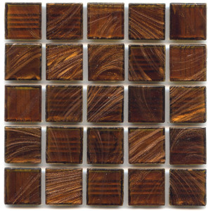 Rosewood 0.75 x 0.75 Glass Mosaic Tile