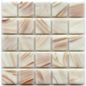 White Alder 0.75 x 0.75 Glass Mosaic Tile