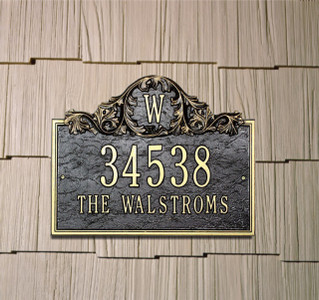 Acanthus Monogram Plaque