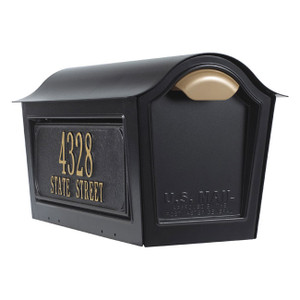 Chalet Mailbox w/2 Line Side Panels - Whitehall
