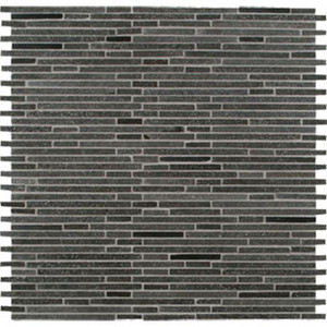 MS International 10mm Hatch Blue Bamboo Pattern Basalt Mosaic