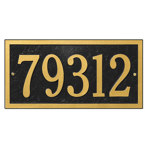 Bismark Standard Wall One Line Address Plaque