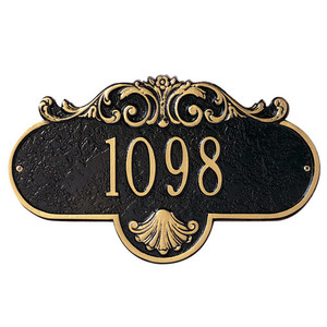 Rochelle Standard Wall One Line Address Plaque
