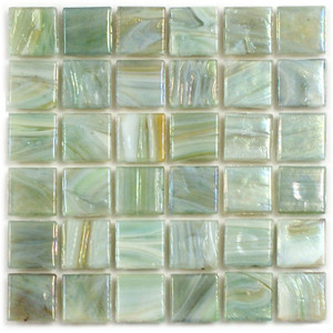 Hakatai Calliope Waterlily 0.625 x 0.625 Glass Mosaic Tile
