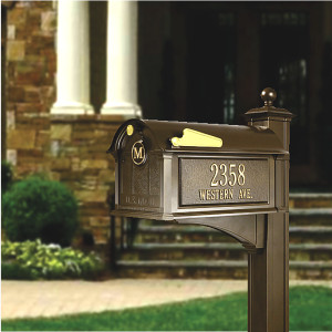 Balmoral Streetside Monogram Mailbox-Post Package