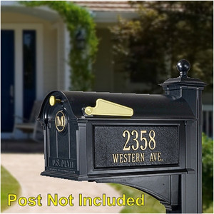 Balmoral Monogram Mailbox-Plaque Package