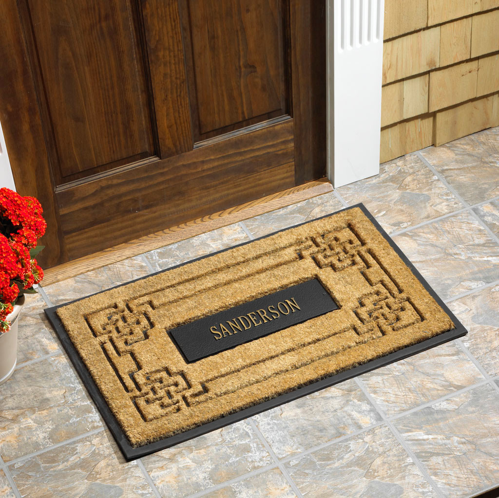 Whitehall Coir Knot Doormat Mat Personalized Cast: Personalized Coir Knot Rectangle Doormat