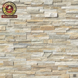 "MS International Golden Honey Ledger Panel 6"" x 24"" Natural Slate Wall Tile : LPNLQGLDHON624"