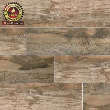 Salvage Brown 6 Quot X 40 Quot Wood Look Italian Made Porcelain Tile