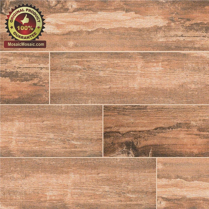 Salvage Red 6 Quot X 40 Quot Wood Look Italian Made Porcelain Tile