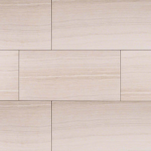 "MS International Eramosa: White 12"" x 24"" Porcelain Tile NERAWHI1224"