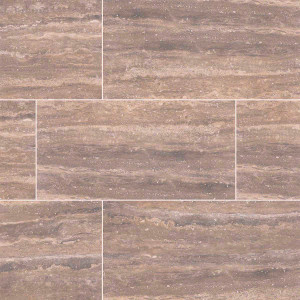 "MS International Pietra: Venata Noce 12"" x 24"" Porcelain Tile NPIEVENNOC1224P"