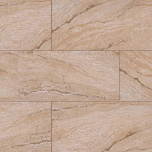 "MS International Pietra: Vezio Beige 12"" x 24"" Porcelain Tile NPIEVEZBEI1224P"