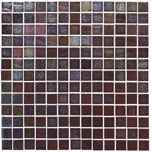 Licorice Sway 1 x 1 Glass Mosaic Tile
