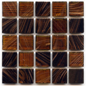 Tigers Eye Blend 0.75 x 0.75 Glass Mosaic Tile