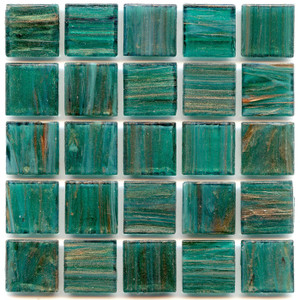 Blue Emerald 0.75 x 0.75 Glass Mosaic Tile