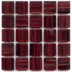 Deep Garnet 0.75 x 0.75 Glass Mosaic Tile